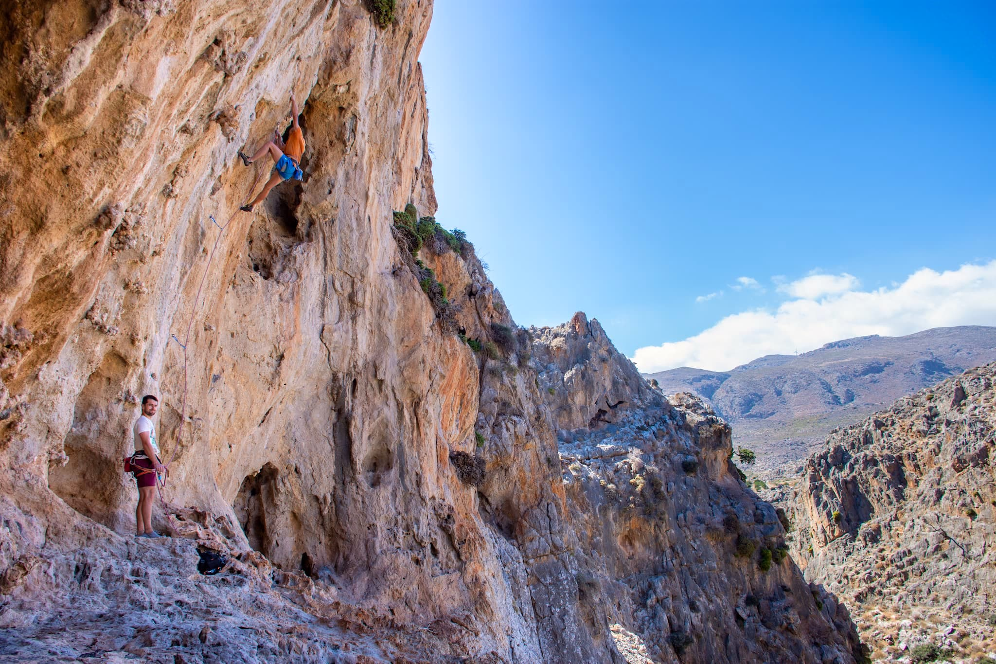 Canyons and new climbing areas in the east Crete